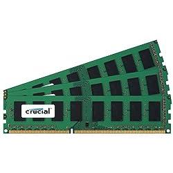 Crucial 48gb Kit (16gbx3) Ddr3ddr3l-1600 Mts (Pc3-12800) Dr X4 Rdimm Server Memory Ct3k16g3ersld4160b Ct3c16g3ersld4160b