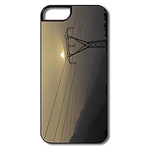 PTCY IPhone 5/5s Custom Funny Sun Down Clouds