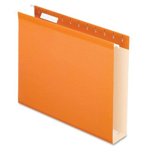 PFX4152X2ORA - Reinforced 2quot; Extra Capacity Hanging Folders