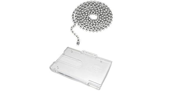 Amazon.com: ID Card It bola de acero cadena de cuello y ...