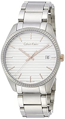 Calvin Klein K5R31B46 Herrenuhr Mens Watch- White Dial Stainless Steel Case Quartz Movement