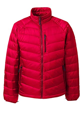 (Lands' End Men's 800 Down Packable Jacket, S, Classic Cherry)