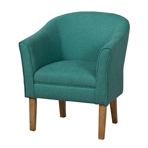 HomePop Chunky Textured Accent Chair Living Room Furniture, Medium, Teal