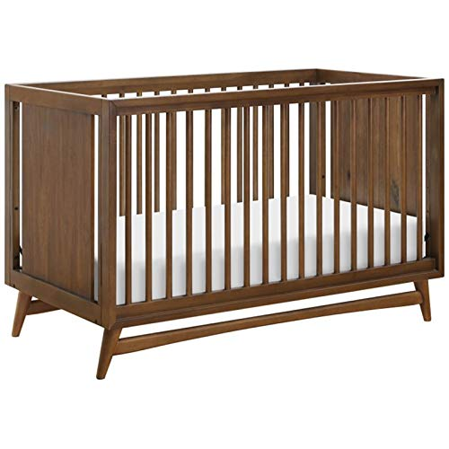 Babyletto Peggy 3 in 1 Convertible Crib with Toddler Bed Conversion Kit, Natural Walnut