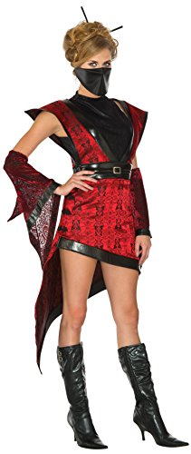 [Rubie's Women's Super Deluxe Ninja Girl Costume Dress, Multi, Medium] (Halloween Costumes For Asian Women)