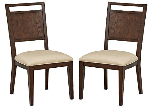 Amazon Com Stone Amp Beam Glenwood Panel Dining Chairs 38
