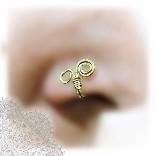 , Infinity Piercing, Tragus Cuff, Ear Cuff, Non Pierced, Fake Nose Ring, Fake Septum Piercing ()