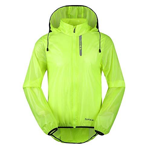 - Santic Men's Cycling Rain Coat Jersey Bicycle Windproof Jacket Hooded Skin Coat Green 3X-Large