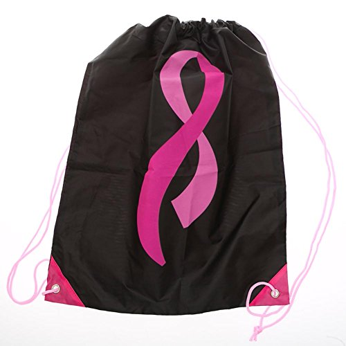 Pink Ribbon Fade Drawstring Backpack