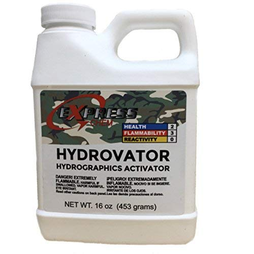 Hydrovator Liquid Hydrographic Water Transfer Activator Hydro Dip Dipping 16oz (Best Hydro Dip Activator)
