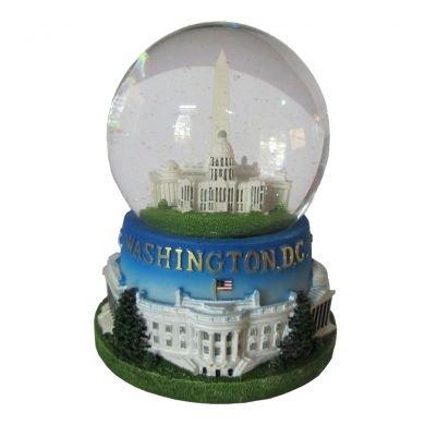 Famous Building of Washington, D.C. Musical Snow Globe (3