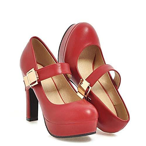 Comfort Heel Spring Black PU Beige Heels Wine Women's ZHZNVX Shoes Polyurethane Wine Stiletto 8TqXwBg