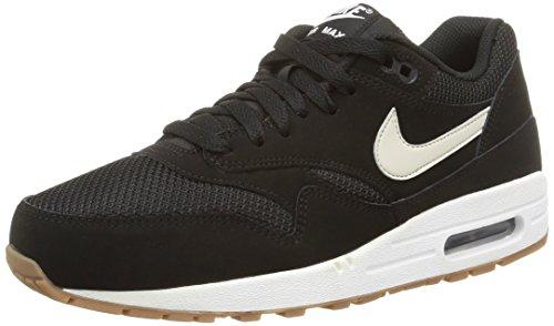 NIKE Men's Air Max 1 Essential Midnight Running Shoes (9 D(M) US, Black/Light Bone/White) ()