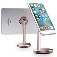 Magnetic Cell Phone Stand LINGCHEN Magnetic Mount Tablet Desk Holder 360° Rotation Adjustable Universal Phone Stand for iPhone X/8/8 Plus Samsung Galaxy S8/Note 8 iPad Rose Gold