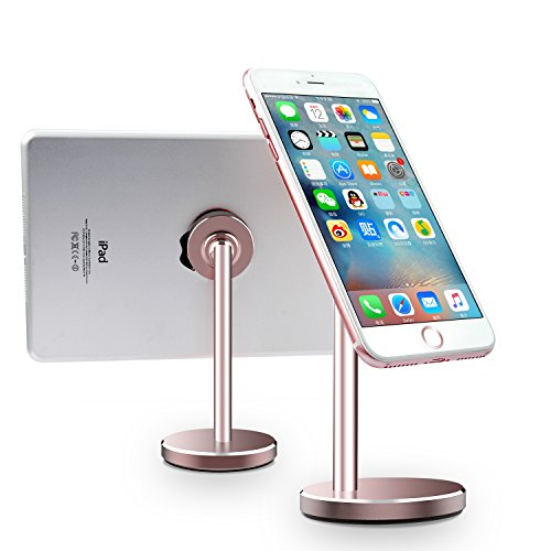 Price comparison product image Magnetic Cell Phone Stand LINGCHEN Magnetic Mount Tablet Desk Holder 360° Rotation Adjustable Universal Phone Stand for iPhone X/8/8 Plus Samsung Galaxy S8/Note 8 iPad Rose Gold