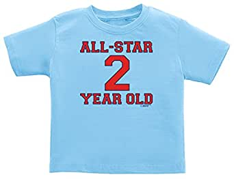 Baby Son Gifts 2nd Birthday Gift All Star 2 Year Old Infant T-Shirt 18 Months Light Blue