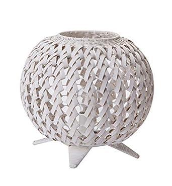 Lussiol À Poser En Tressé Forme Lampe Boule Hauteur Bambou Blanc dhQtsBrCx