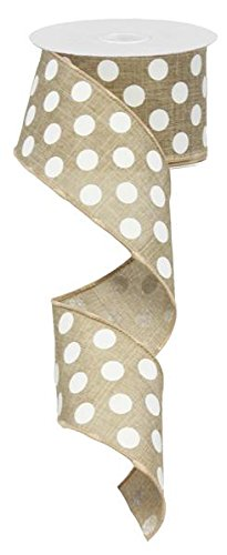 - Ex=pressions Polka Dot Wired Edge Ribbon (2.5