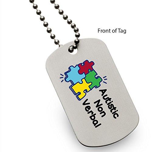 Autistic Non Verbal Puzzle Medical Alert ID Dog Tag