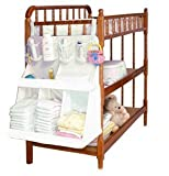 ilovebaby Baby Bed Hanging Nursery and Diaper Organizer - Lightweight Nylon Material with Velcro Straps, Waterproof -Store Diapers, Baby Wipes, Lotions and other Necessities
