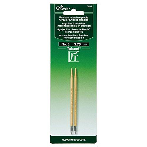 Aguja Circular Intercambiable Clover Takumi Bamboo  - 5