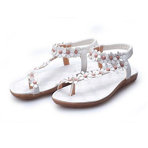 Blanc 2 cheville Bride femme de ZAMME White wa4qUx