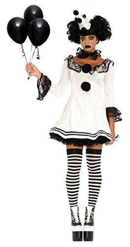 Leg Avenue Women's 3 Pc Pierrot Clown Halloween