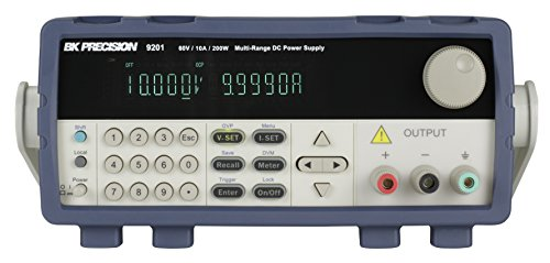 B&K Precision 9201TCAL Multi Range Programmable Power Supply, 200W, 60V, 10 amp with a NIST-Traceable Calibration Certificate with Data