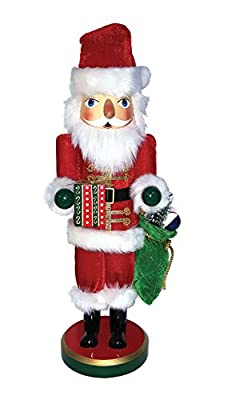 "Santa's Workshop 70972 Bearing Gifts Santa Nutcrackers, 16"", Multi"