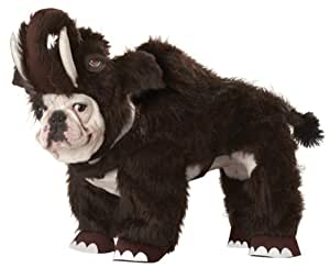 Animal Planet Wooly Mammoth Dog Costume, Small, Brown