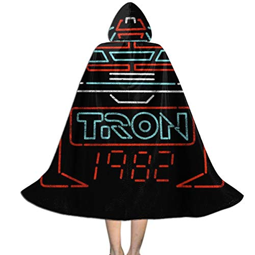 Tron Girl Halloween Costume (SEDSWQ Better Recognise Tron Unisex Kids Hooded Cloak Cape Halloween Xmas Party Decoration Role Cosplay Costumes)