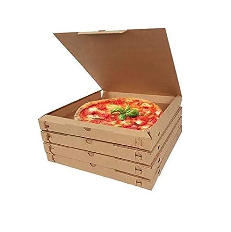 Palucart® - 100 cajas de cartón térmicas para pizza, 32 x 32 x 3 ...
