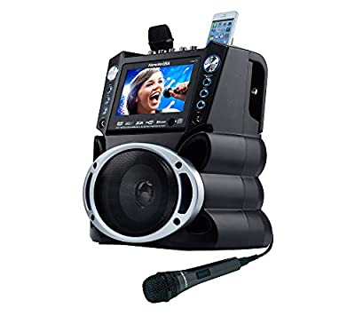 "DVD/CDG/MP3G Karaoke System with 7"" TFT Color Screen with Record and Bluetooth"