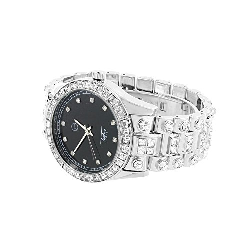 platinum iced out watch - 3