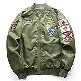 Mens Flight Pilot Air Force Army Green Military Motorcycle Jacket and Coats