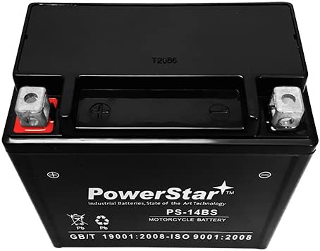 Replaces: YTX14-BS ES14BS GTX14-BS UTX1 Powersports Battery ETX14