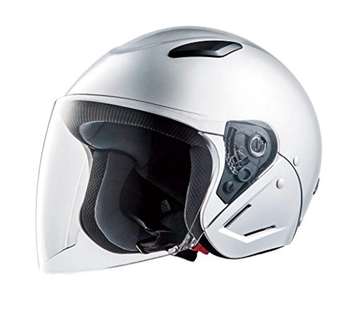 [해외] CEPTOO (세푸토) 오토바이용 헬멧 제트 실버 프리 사이즈 GC-7