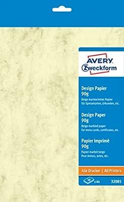 Avery Dennison 32085 - Papel para certificados e invitaciones (A4 ...