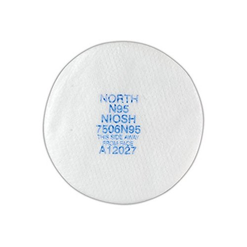 North by Honeywell 7506N95 Particulate Filters, Cartridge/Filter, Non-Oil Particulates, N95, Purple (Pack of 10) (N95 Filter)