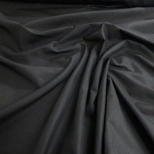 Tela de popelina negra de polialgodón liso, japonesa, QKT 4000 ...