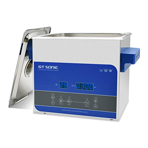 3L Ultrasonic Cleaner, 304 Stainless Steel Professional Ultrasonic Cleaners with Digital Timer & Heater for Jewelry Watch Glass Circuit Board Dentures Small Parts Dental Instrument (R3-1)