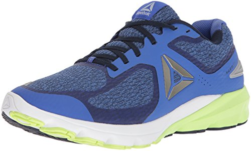 Reebok Men's Harmony Road 2 Sneaker, Acid Blue/coll. Navy/White/Electric Flash/Cloud Grey, 8.5 M US (Electric Blue Sneakers)