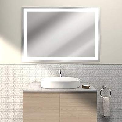 Specchio Bagno Retroilluminato Prezzi.Specchio Da Bagno Zircone Da Cm 100x70 Illuminato Con Luci Led