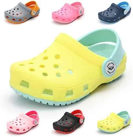 e7db82a686ad3 Toddler Kids Boys Girls Classic Clogs Slip On Garden Water Shoes  Lightweight Summer Pool Slippers Beach