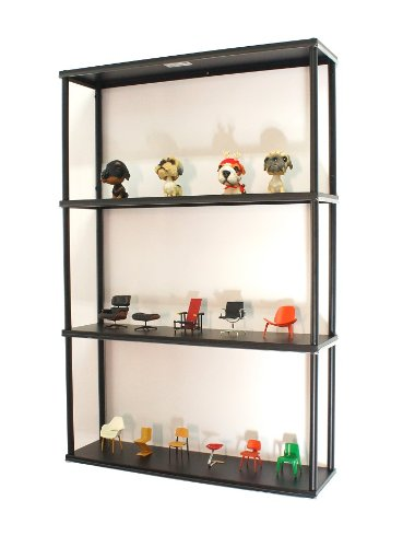 - Mango Steam Wall-Mounted Steel Shelving Unit - 36 H X 24 W X 6 D Inches - Black - for Kitchen, Storage, or Display Use.