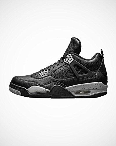Jordan Kid's Air 4 Retro BG, OREO-BLACK/TECH GREY-BLACK, Youth Size 6 (Air Jordan 4 Retro Oreo)