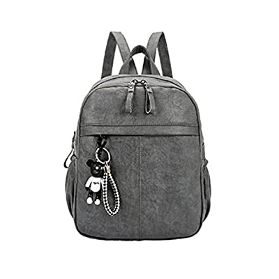 bbba96d5e477 HFmorning Women Travel Backpack PU Leather Pure Color Daypack Waterproof  Bookbag on sale