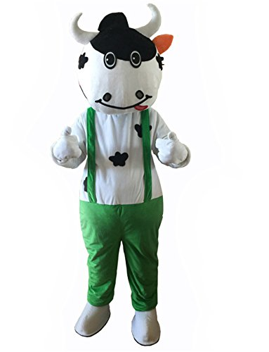 [Mascot Costumes for Adults Christmas Halloween Outfit Fancy Dress Suit Dairy Cattle Cow …] (Deluxe Plush Cow Mascot Costumes)