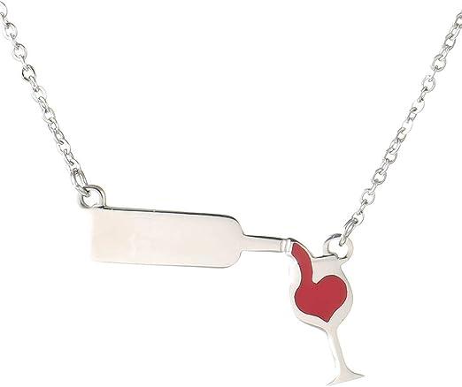 Women/'s Fashion Wine Bottle Chain Women Long Necklace Bottle Cup Pendant