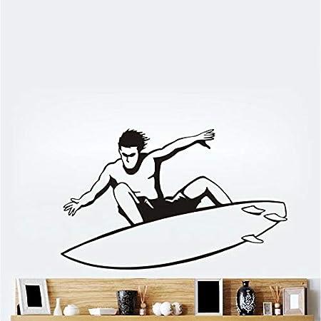 lyclff Brave Surfing Hombre Silueta Pegatinas de Pared decoración ...